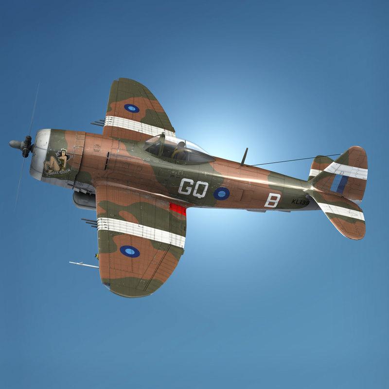 republic p-47d thunderbolt mk 3D