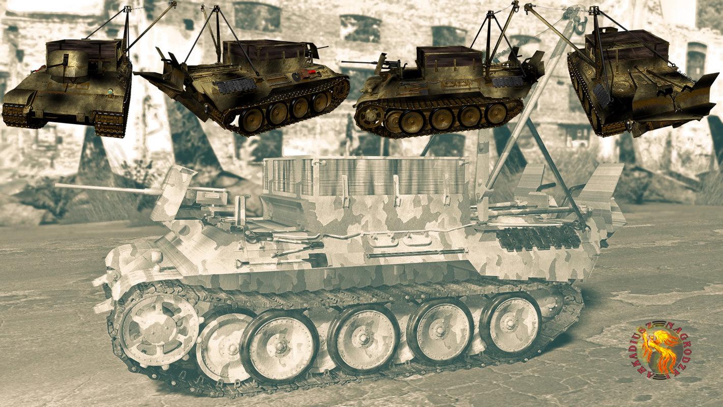 bergepanther tank 1944 model