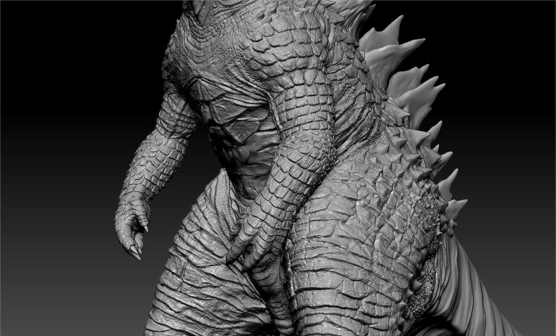 Godzilla sculpt high poly sculpt