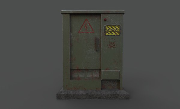 electric box games 3D model