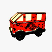 cartoon van 3D model