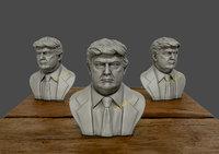 3D donald trump sculpture