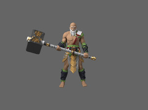 barbarian hammer 3D model