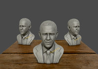 sculpture barack obama 3D