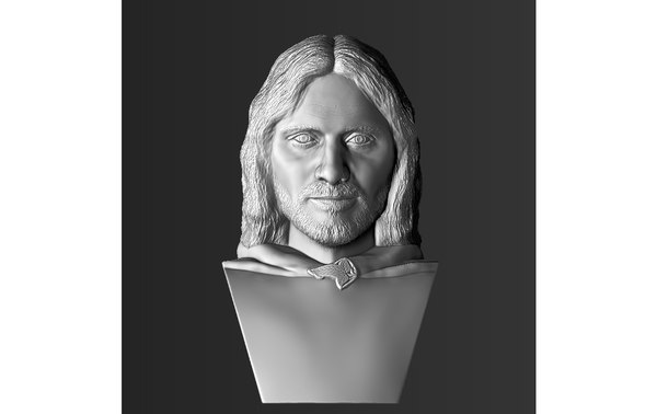 3D aragorn lord rings bust model
