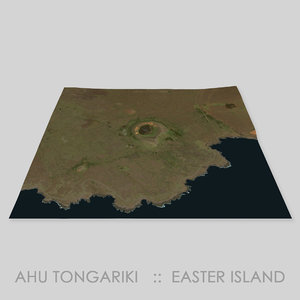 ahu tongariki easter island 3D model