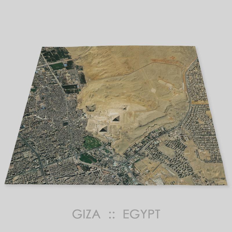 giza terrain plateau 3D model