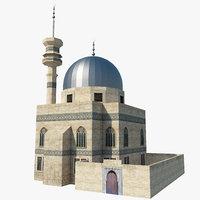 3D mosque building model