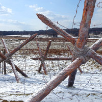 barbed wire obstacle realistic 3D model