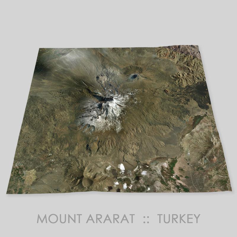 mount ararat terrain 3D model