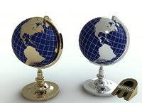 3D gold silver model