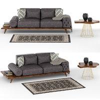Constantin Wood Sofa