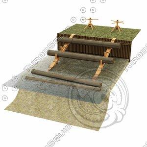 wood handling model