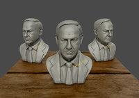 Benjamin Netanyahu 3D Sculpture