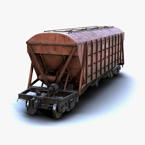low-poly car hopper 3D model