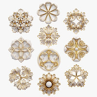 Decorative Wall    Rosettes