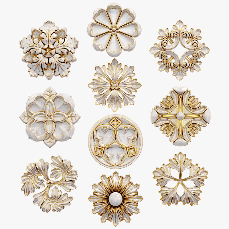 decorative wall rosettes set model