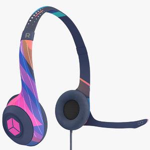 gamer headphones headset 3D
