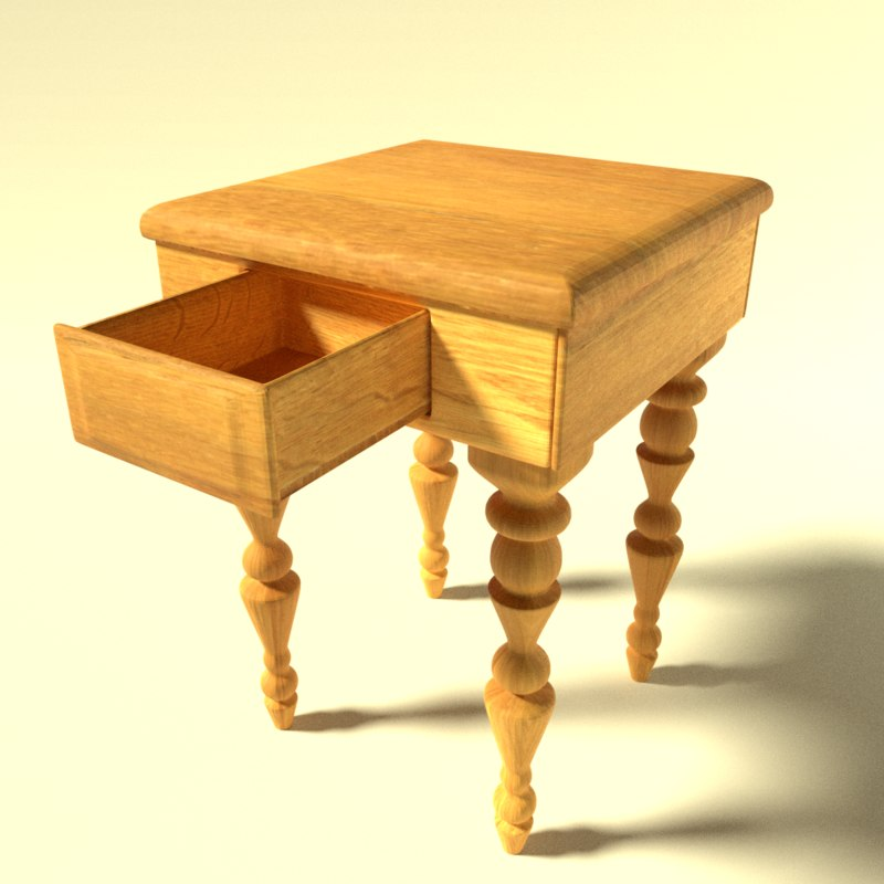 3D table drawer