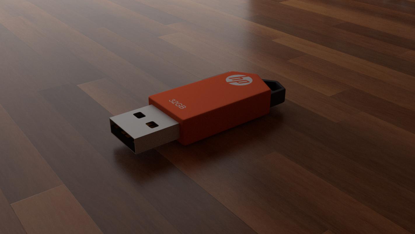 hp usb 3D model