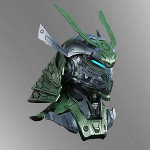 3D robot head