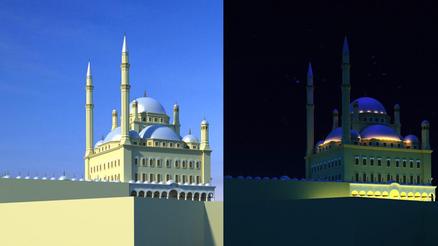 saladin citadel cairo complex 3D model