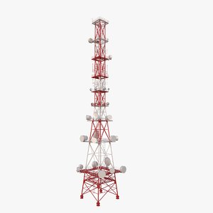 3D model tv tower