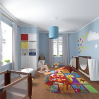 3D children room