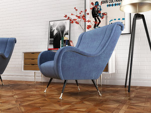 armchair furniture set 3D