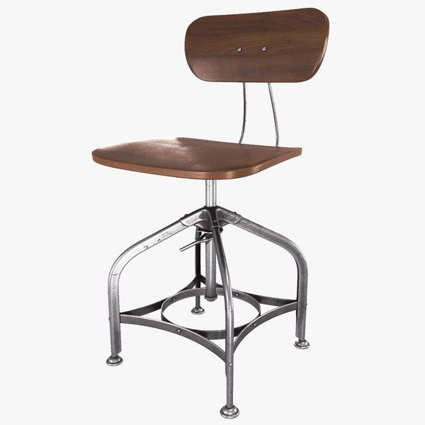industrial chair 3D model