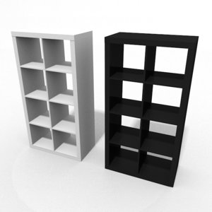 kallax shelf ikea 3D