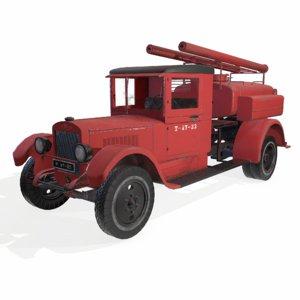 3D soviet truck engine model