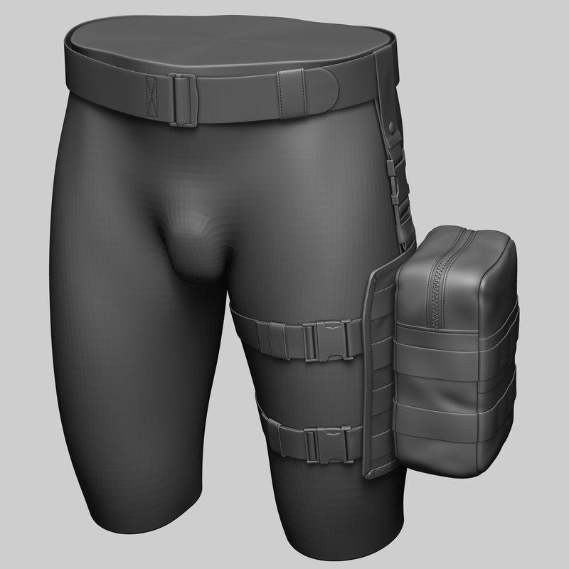 drop leg platform utility 3D model