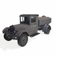 military truck with cistern