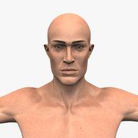 realistic male model