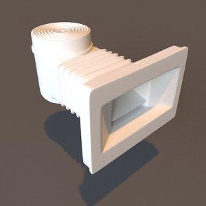 pool skimmer 3D model