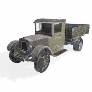 3D soviet truck snow version model