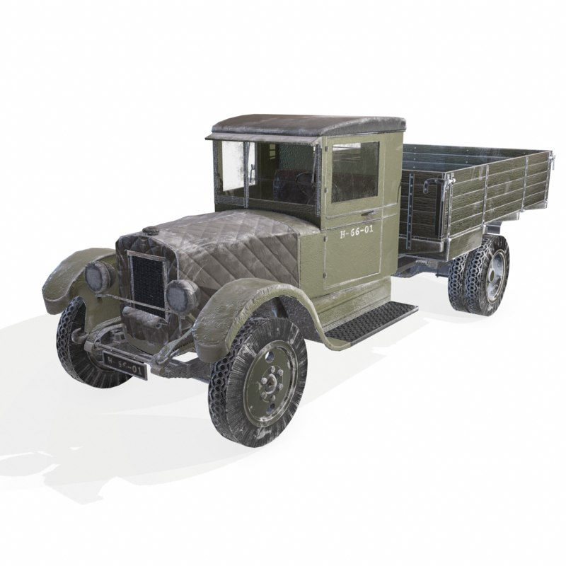 3D soviet truck snow version model