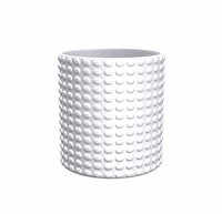3D model white geometric decor vase
