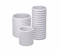 white geometric decor vase 3D model