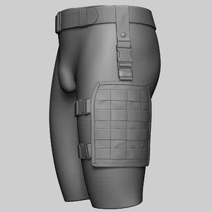 3D model drop leg platform