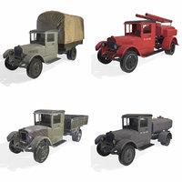 3D pack soviet truck 4 model
