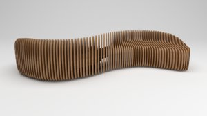 parametric wooden bench model