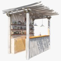 3D bar beach