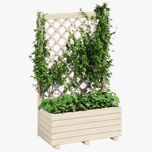 3D model planter trellis 66 litres