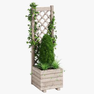 3D square planter lattice model