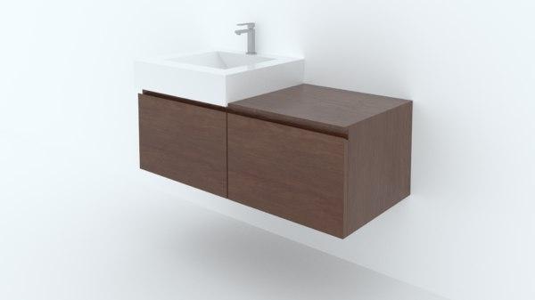minimalist sink stand 3D model