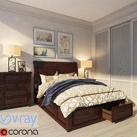 bed nightstand dresser model