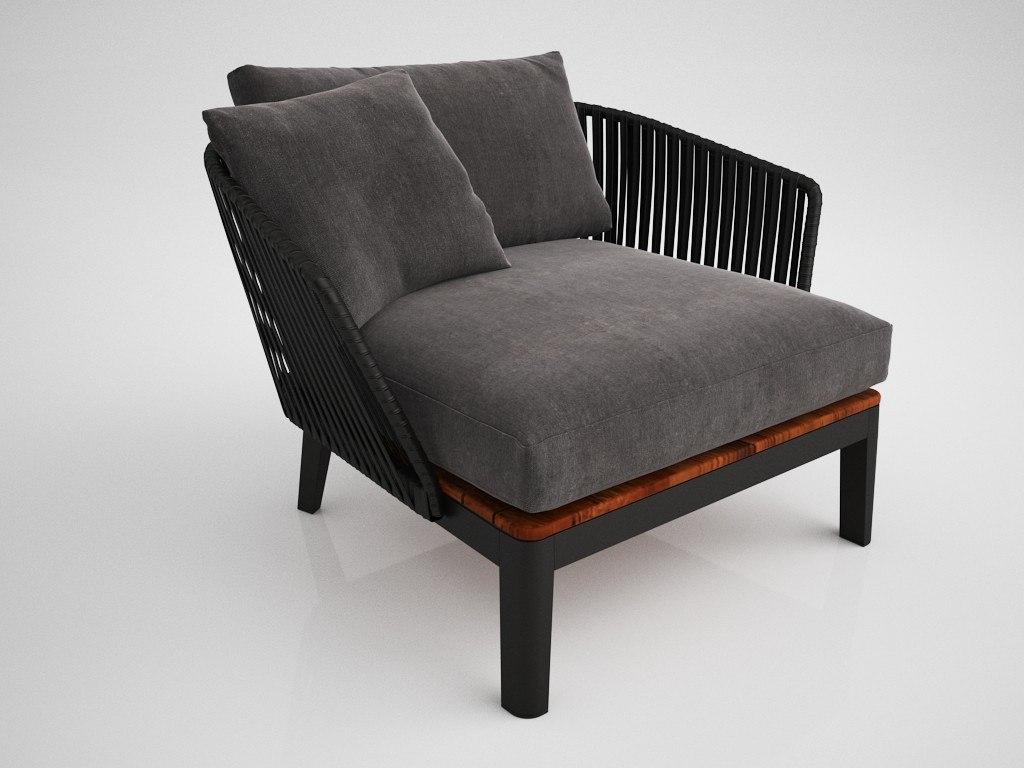 papou armchair 3D model