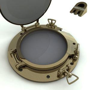 3D porthole hole